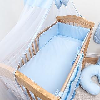 /Bleu uni 6/pi/èces Chambre denfant Parure de lit b/éb/é avec bumper au Tour de lit 120/x 60/cm/