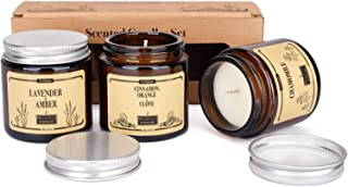 Bougies parfumées, aromathérapie, cire de soja naturelle, huile essentielle pure pour la relaxation, soulager le stress, s...
