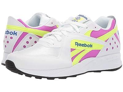 Reebok Lifestyle Pyro (White/Vicious Violet/Neon Yellow) Men