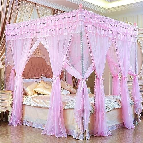 Couvertures de lit, tente de jeu for moustiquaire, tente de couchage à rideaux (Couleur   Rose, Taille   1.8x2.0m bed)