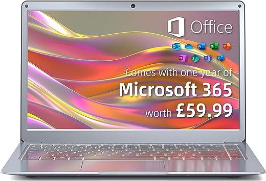 Jumper Laptop Microsoft 365, 13.3 inch FHD Screen(4GB DDR3 64GB eMMC Windows 10 Laptops Computer, Intel Celeron Dual Core, USB 3.0, Dual Band…