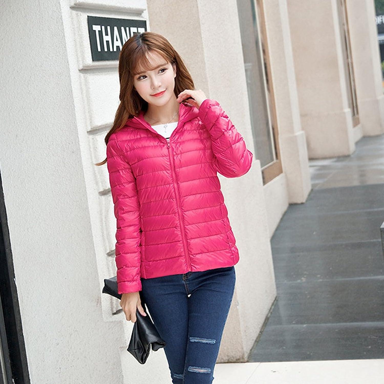 Women's Hooded Packable Super Light Weight Short Down Jacket