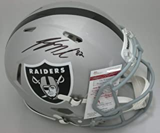 Raiders Jordy Nelson Autographed Signed Full Size Replica Speed Helmet Auto - JSA
