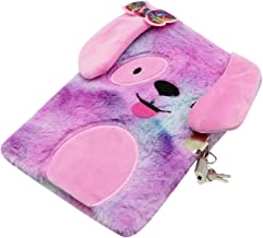 The System Sellers 8 Inch Plush Fur Journal or Diary with Sayings Light Blue 80 Lined Pages