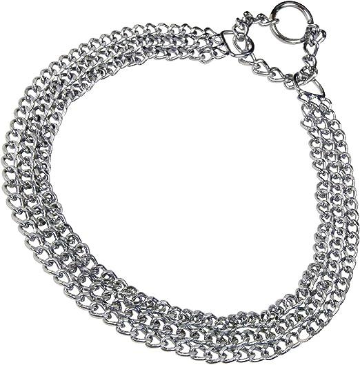 45 cm Sprenger 5111204565 Kettenhalsband Rundgliedkette mit 2 Ringen Edelstahl matt 3 mm f/ür Hunde bis 60 kg
