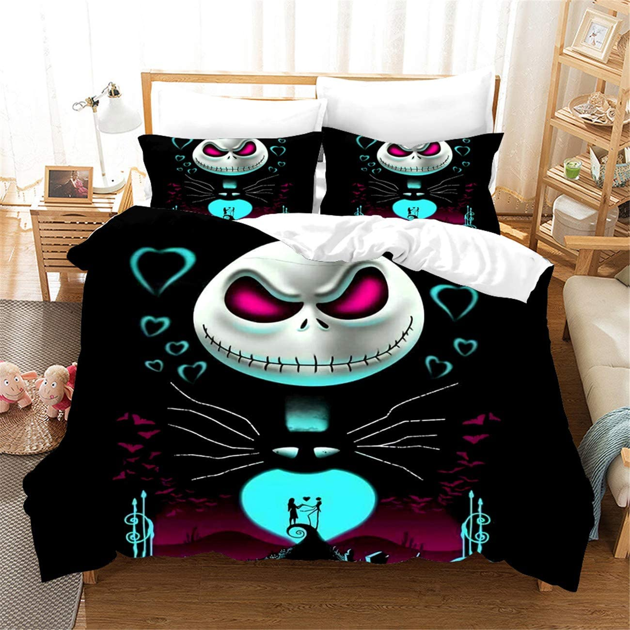 HMT NF Nightmare Before Christmas Bedding Cover Piec Set Duvet We OFFer at cheap prices Challenge the lowest price of Japan 3
