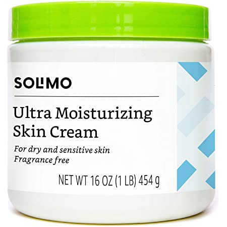 Amazon Brand - Solimo Ultra Moisturizing Skin Cream for Dry & Sensitive Skin, Dermatologist Tested, Fragrance Free, 16 Ounce