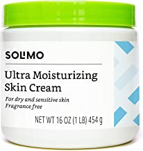 Amazon Brand - Solimo Ultra Moisturizing Skin Cream for Dry & Sensitive Skin, Dermatologist Tested, Fragrance Free, 16 Ounce