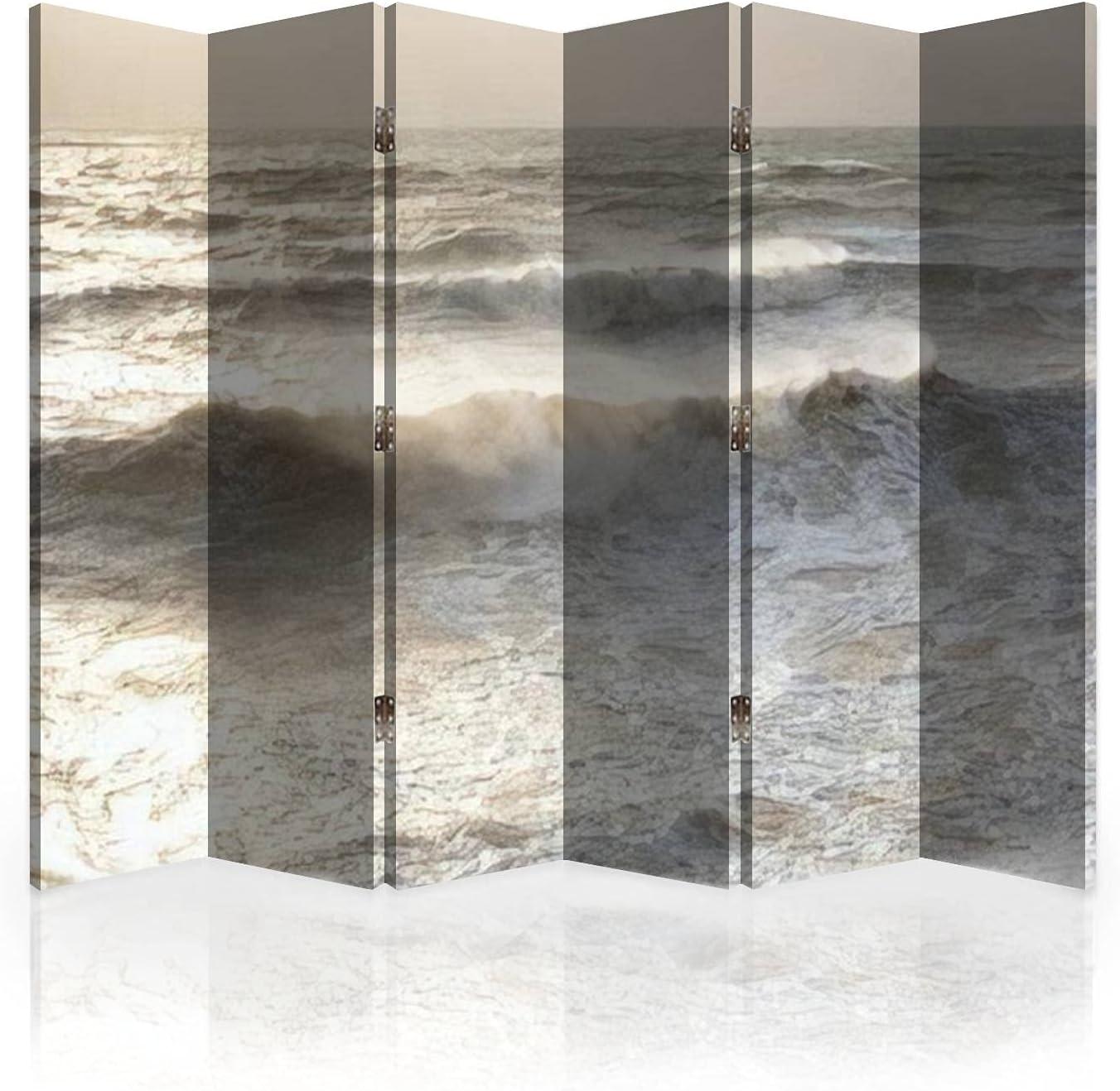 Canvas Room Divider High order Screen sea Sand Nat a Color Omaha Mall Beach Neutral is