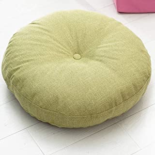 idee-home Solid Round Floor Seat Cushion | Soft Thicken Pillow Seat Chair Pad Tatami Floor Cushion Yoga Meditation Living Room Balcony Office Outdoor, Light Green, 19x19x5 Inches