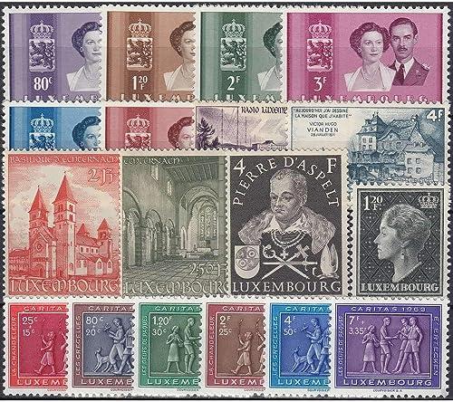 Goldhahn Luxemburg 1953 postfrisch  Nr. 505-522 Briefmarken für Sammler