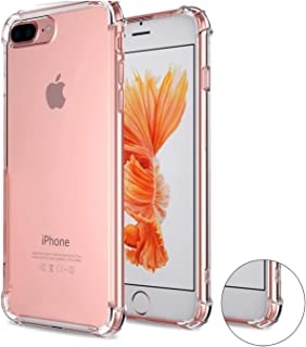 Compatible with iPhone 7 Plus Case, iPhone 8 Plus Case,iBarbe Crystal Clear Slim fit Shock Absorption Bumper Heavy Duty Protection Soft TPU Cover Case for iPhone 7/8 Plus 5.5 Inch Phone