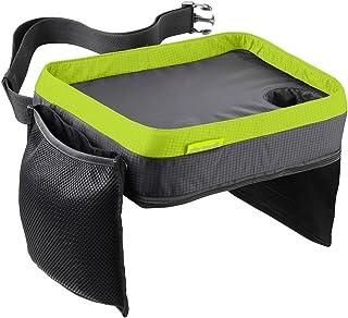 Support iPad et Plusieurs Poches pour Jouets Organiseur de si/ège arri/ère de Voiture en Cuir PU Plateau pour Enfants Table /à manger pliable avec 4 Ports USB Noir Voyage Choses