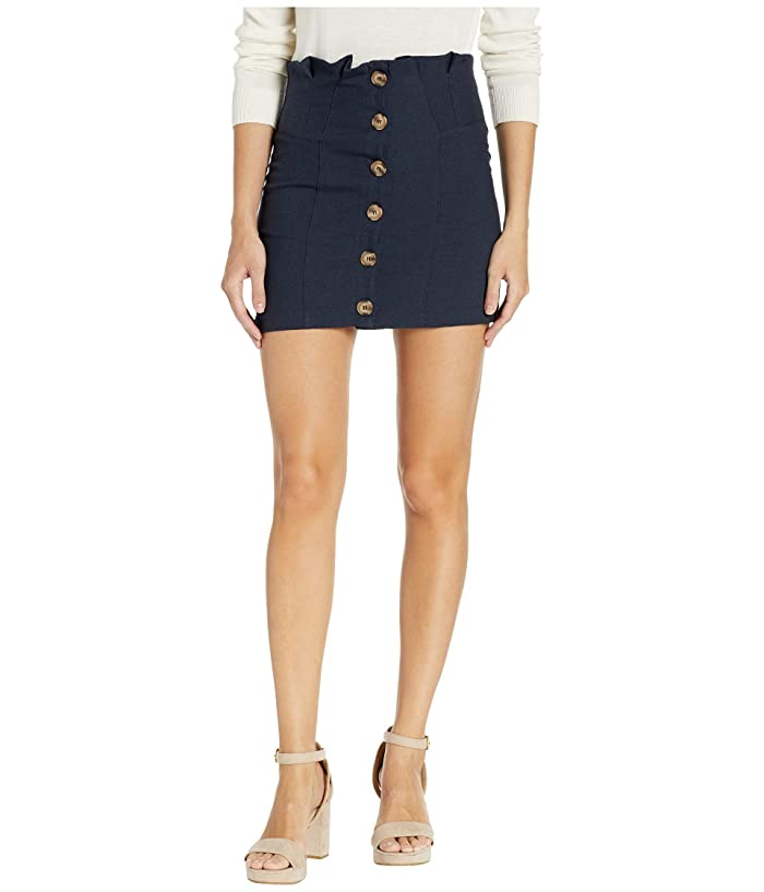 Bishop + Young Button Front Mini (Midnight Blue) Women