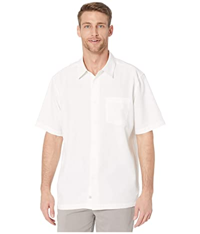 Quiksilver Waterman Centinela 4 Short Sleeve Shirt (White Centinella) Men