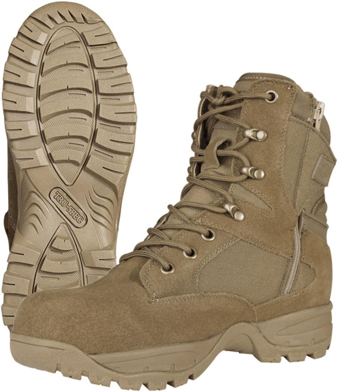 Tru-Spec 4060 Tac Assault 9  Side Zip Tactical Boots, Coyote