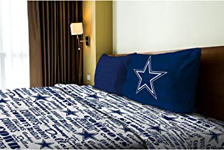 Northwest NOR-1NFL820010009WMT Dallas Cowboys NFL Twin Sheet Set - Anthem Series
