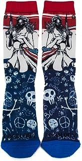 PIXOLOGY Rebal Unisex Graphic Sublimation Crew Socks 1 Pairs (Multi Color), One Size