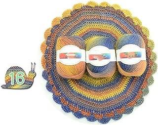 Soft Worsted Yarn Rainbow Gradient Colors DIY Baby Knitting Wool Shawl Scarf Sweater Crochet Thread Supplies,16