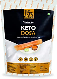 NutroActive Keto Dosa (Net Carb 15%) Ultra Low Carb Instant Dosa Mix- 350gm