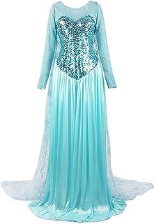 ReliBeauty Women de la Princesa Elsa Disfraz