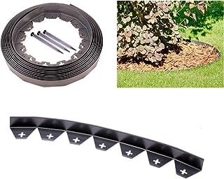 comprar comparacion Zielona Aleja Rollo de 10 m de cinta delimitadora para jardín, con 50 fijaciones extrarresistentes