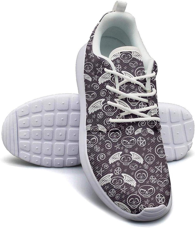 Gjsonmv Flyer Skull Star mesh Lightweight shoes Women Fashion Sports Badminton Sneakers shoes