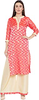 Agroha Women's Cotton Silk Kurta Palazoo Set