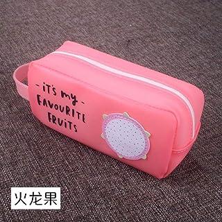 Estuches Pink Big Kawaii Estuche de Lápices de Silicona Caja de Plumas de Dibujos Animados de Silicona Negro Bolsa Grande ...