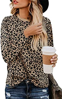 Womens Casual Shirts Cute Animal Print Tunic Tops
