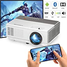 $152 » WiFi Mini Projector Bluetooth,Built-in Android Smart Home Theater Projectors Wireless Airplay Screen Mirror, LED 50000hrs for Outdoor Movie Night Games iPhone TV DVD Xbox PS4