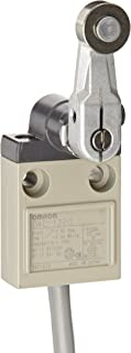 Omron D4C-1220 Compact Enclosed Limit Switch, Roller Lever, VCTF Oil Resistant Cable, 5A at 250VAC and 4A at 30VDC Rated Current, 3m Cable Length
