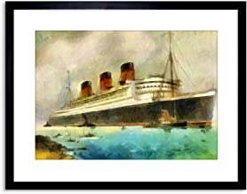 The Art Stop Painting Maritime RMS Queen Mary Liner Cruise Ship Framed Print F97X6242