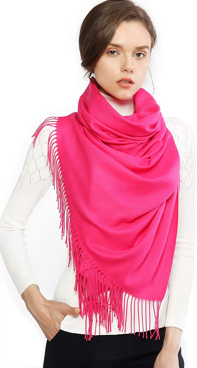 RIIQIICHY Womens Scarf Pashmina Shawls and Wraps for Evening Dress Bridesmaid Wedding Bridal Winter Warm Long Large Scarves