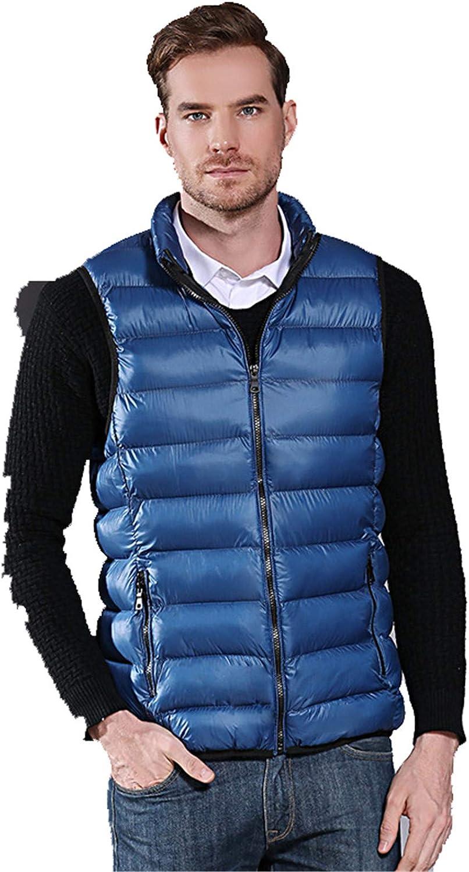 Snhpk Men's Cotton Vest Outerwear Gilets Coat Softshell Jacket, Winter Thicken Warm Windproof Overcoat Waistcoat,008,L