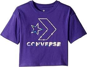 Converse Kids Girl's Star Chevron Iridescent Boxy Tee (Big Kids)