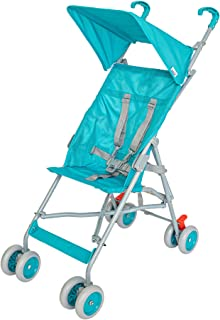 MOON jet- buggy with Canopy | 5 point Harness with link brake solid color Light Blue| 6 month above