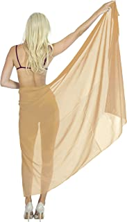 7dd4f07ce2 LA LEELA Women Beachwear Bikini Cover up Wrap Dress Swimwear Sarong 14 ONE  Size