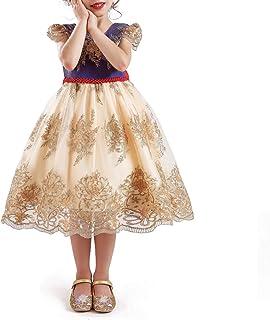 NNJXD Pentagram Vestido de Fiesta Carnaval Disfraces Disfraces para niñas 3-8 años
