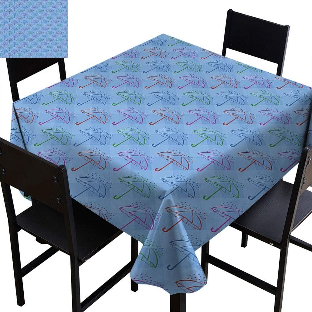 Topodecor Umbrella Square tablecloths cheap Checkered wi Backdrop Blue Sacramento Mall