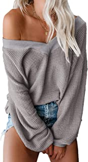 Best grey off the shoulder sweater Reviews