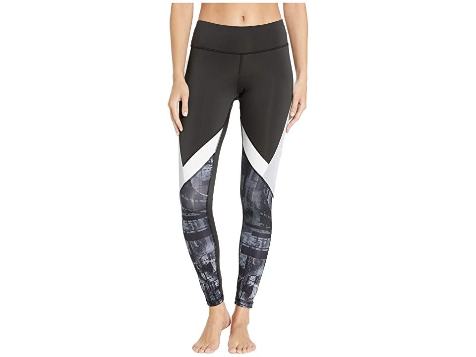 Reebok Work Out Ready Meet You There Panel Poly Tights (Black) Women