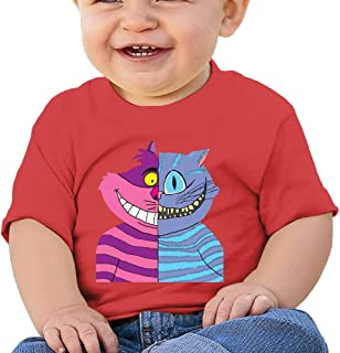 Cheshire Double-Faced Cat Custom Infant T-Shirt Black