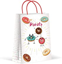 Premium Donuts Party Bags, Party Favor Bags, New, Treat Bags, Gift Bags, Goody Bags, Party Favors, Party Supplies, Decorations, 12 Pack