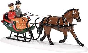 Department 56 Original Snow Village Accessories Sleigh Bell Ride Figurine, 3.8 Inch, Multicolor