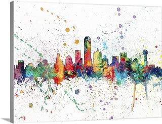 Dallas Texas Skyline Canvas Wall Art Print, 40