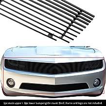 APS Compatible with 2010-2013 Chevy Camaro LT LS V6 Phantom Black Billet Grille Grill Insert Combo C61027H