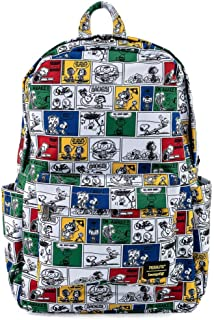 Loungefly Peanuts Comic Strip AOP Nylon Women's Double Strap Shoulder Bag