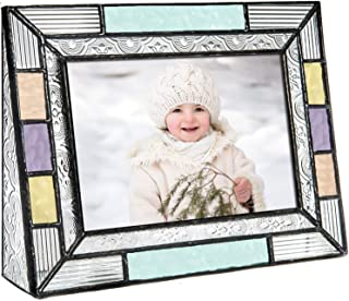 4x6 Picture Frames Colorful Horizontal Photo Table Top Blue Peach Purple Turquoise Home Decor Family J Devlin Pic 372-46H