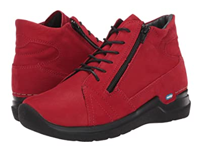 Wolky Why (Dark Red) Women